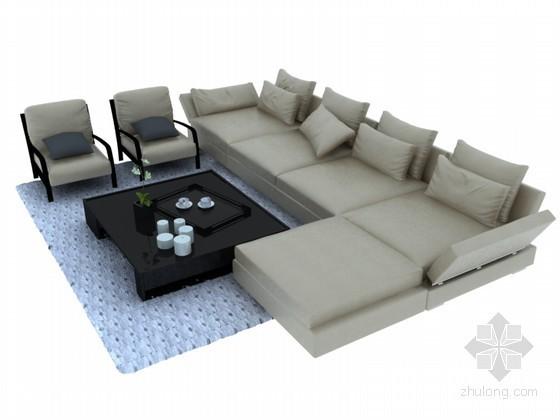 简洁沙发3D模型下载