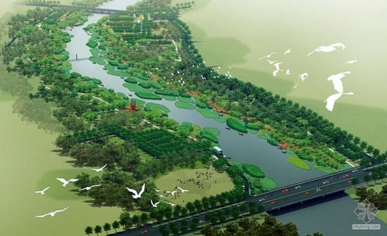 秦皇岛河两岸带状公园景观规划设计方案2