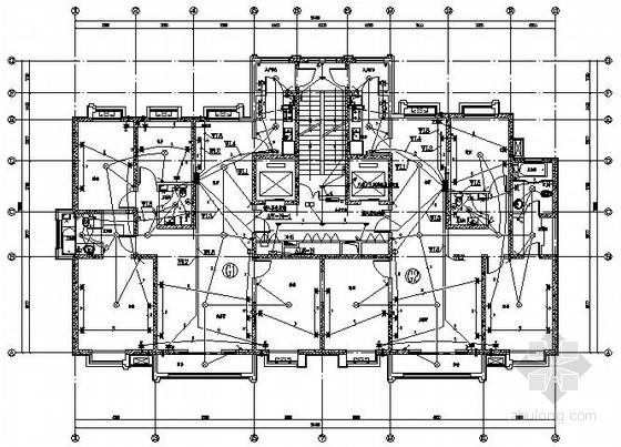 高层住宅楼电气平面施工图