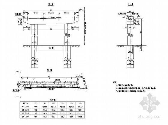 预应力混凝土连续箱梁桥下部非连续处桥墩一般构造节点详图设计