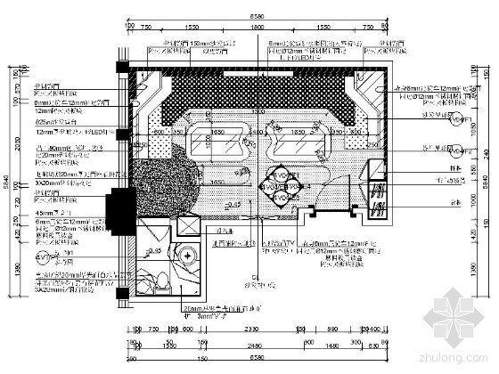 KTV贵宾包房平面图