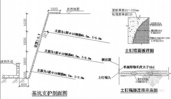 [北京]锚杆施工方案及计算书(含横道图 cad图纸)