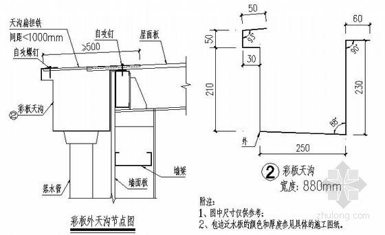 轻钢结构包边泛水节点详图(原创)