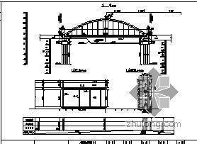 钢管混凝土简支系杆拱桥施工图