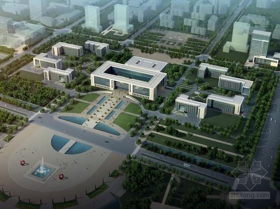 [山东]现代风格行政办公楼及单体设计方案文本(含详细CAD图纸)