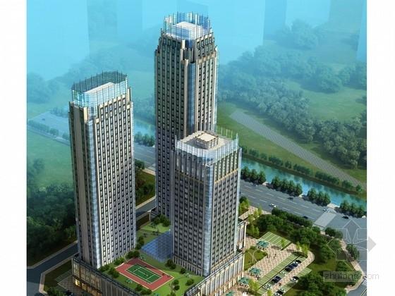 [济南]36层豪华商务休闲酒店建筑设计方案文本(多种方案)