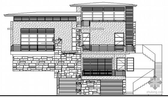 某三层坡地别墅建筑施工图