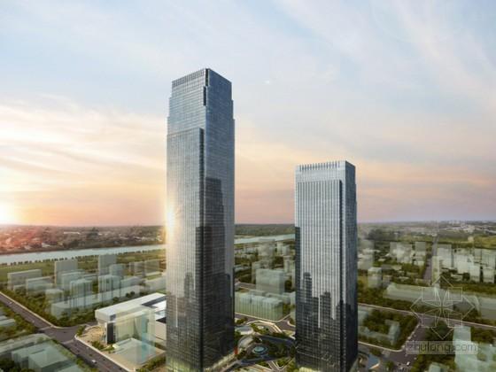 [湖南]巨柱框架核心筒超高层建筑施工特色技术汇报(452m)