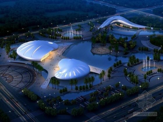 [广东]某体育中心建筑方案文本(含CAD、动画、psd)