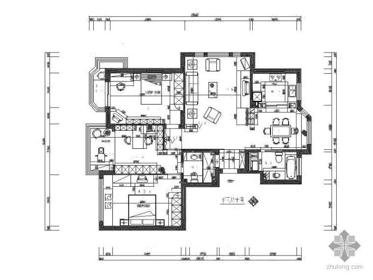 现代风格两室二厅装修图