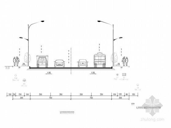 [重庆]双向4车道市政道路照明设计图纸23张(强弱电)