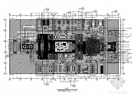 [南通]现代风格家纺办公区装饰室内设计CAD施工图