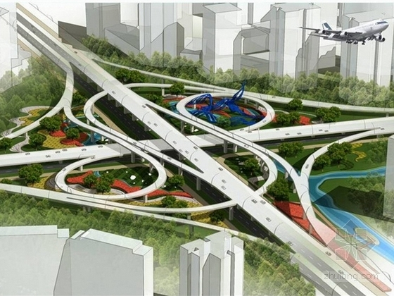 [宁波]生态城市快速干道机场路概念景观设计方案