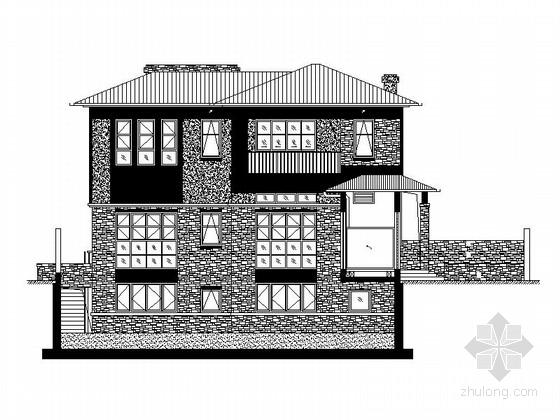 [上海]2层现代风格独栋别墅建筑设计施工图(知名设计院)