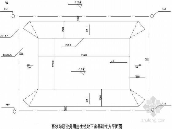 住宅楼基坑放坡锚喷支护开挖施工方案(支护计算书)