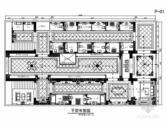 [山西]豪华欧式风格瓷砖展厅室内装修设计施工图