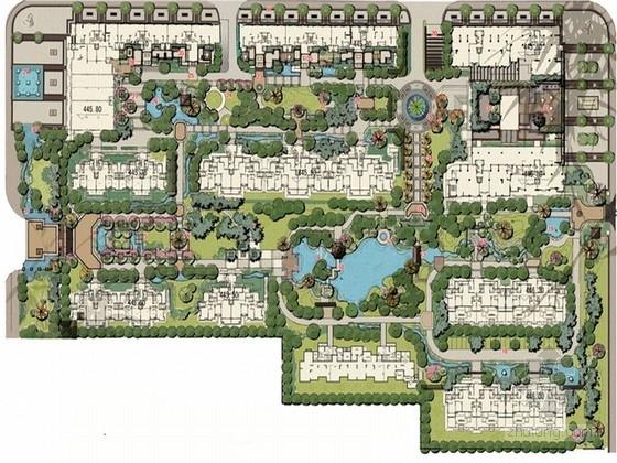 [西安]新中式风格与地方特色文化结合居住区景观规划设计方案
