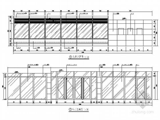 [北京]现代国际化综合金融服务机构支行精装修施工图 大厅立面图