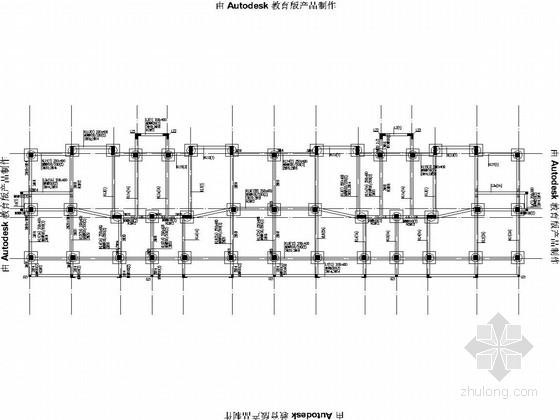 [烟台]五层带车库框架结构住宅结构施工图