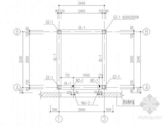 电梯井道钢框架结构施工图