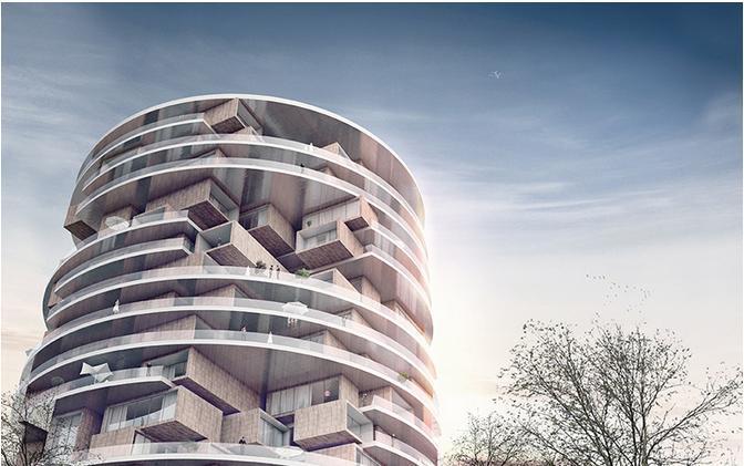 法曼尼赫住宅楼|镶嵌在塔楼中的垂直村落