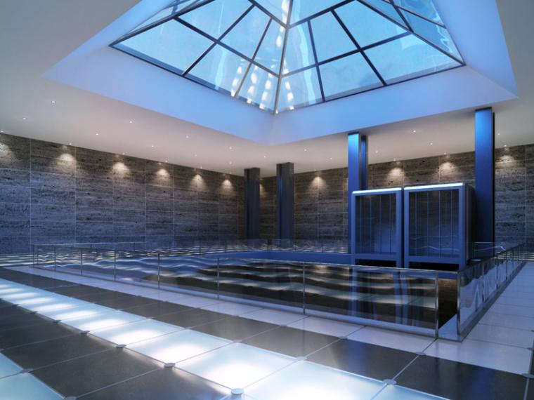 室内泳池3D模型下载