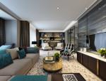 现代奢华样板间客厅设计3D模型(附效果图)