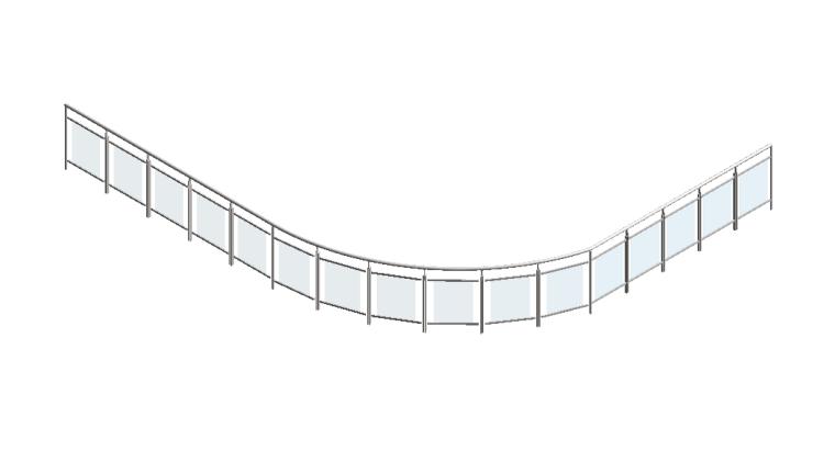 bim族库-revit族文件-玻璃嵌板栏杆