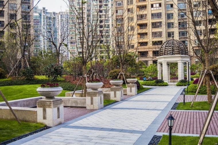 上海中海万锦城三期ArtDeco风格居住区景观设计_1