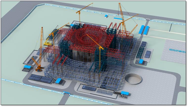 钢结构科技馆施工组织设计汇报(附图丰富,钢框架)_10