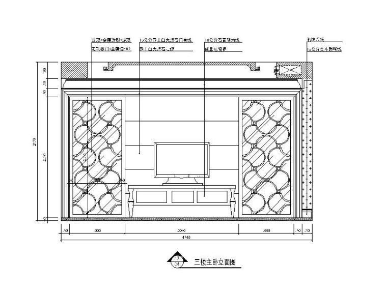 [湖南]欧式风格机台v风格CAD施工图(含效果图)ccd视觉别墅结构设计cad图片