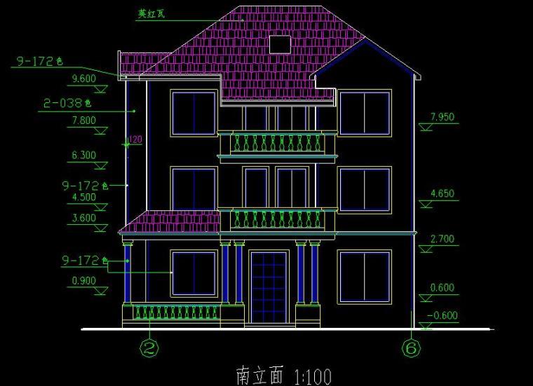 3层别墅建筑施工图