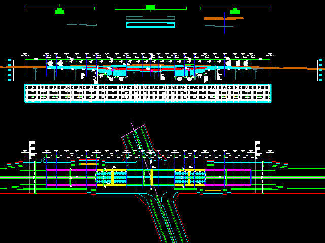 2016年设计市政大道明挖法下穿双跨钢筋混凝土闭合框架结构隧道设计图纸59张(U槽结构)