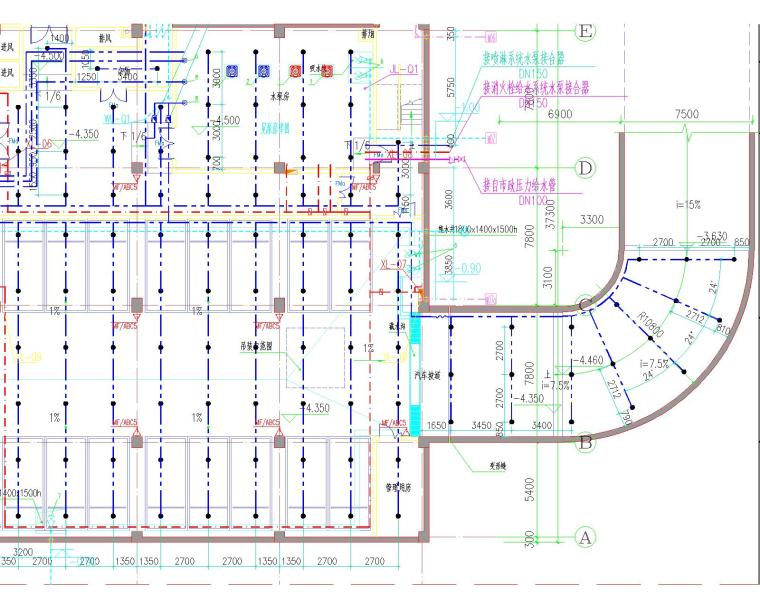 [安徽省]滁州移动分公司给排水设计施工图