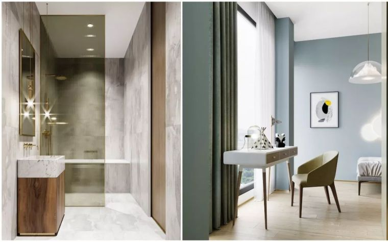120㎡两室一厅,色彩搭配太美腻!