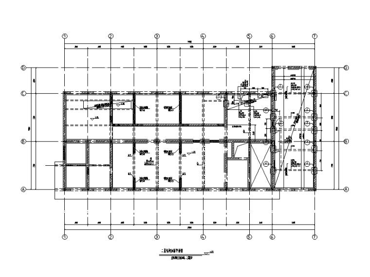 二层砌体结构喷漆楼加固改造施工图(2016)