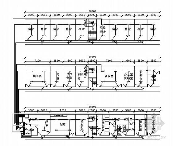 江苏某施工工地项目部临时用电设计图纸