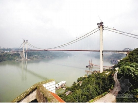 [重庆]跨江悬索桥164m、167m高索塔设计图纸182张(含楼梯 桥面系)
