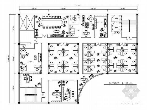 IT办公空间室内装修施工图