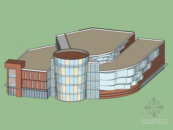 商场建筑SketchUp模型下载-商场建筑