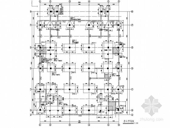 [南通]五层框架结构工业园标准厂房结构施工图