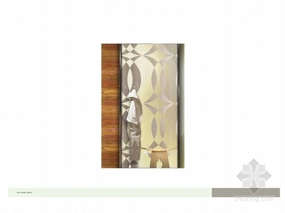 [广州]市中心核心地带五星级商务酒店客房方案设计 衣柜立面图