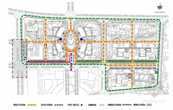 [福建]城市核心区软件园地块规划设计方案文本-城市核心区软件园地块规划分析图