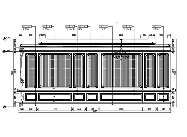 [吉林]经典豪华法式样板房室内设计施工图(含设计方案)_6