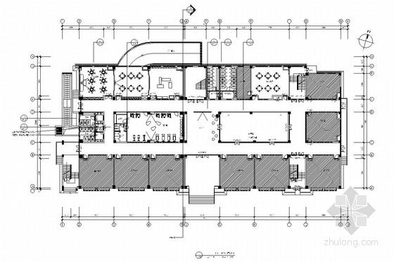 [苏州]现代教育理念实验小学装修施工图(含电气及给排水图)