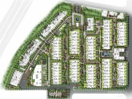 [杭州]水墨书境中式高端住宅及附属幼儿园景观设计方案(知名设计所)