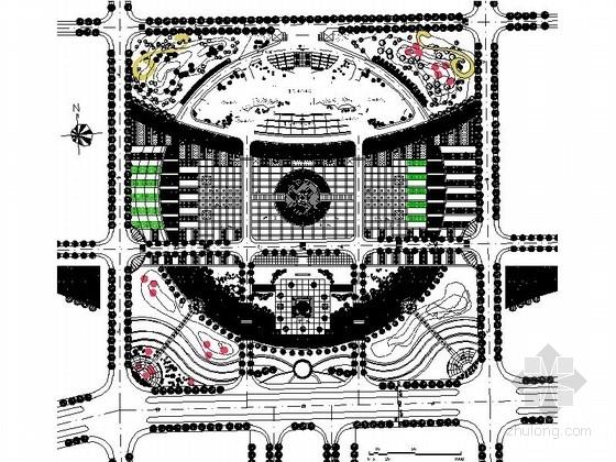 某休闲广场绿化景观设计施工图