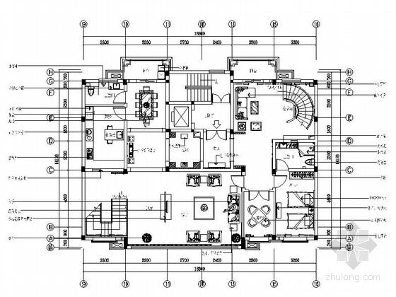 某公馆现代中式双层别墅室内装修图(含效果实景)