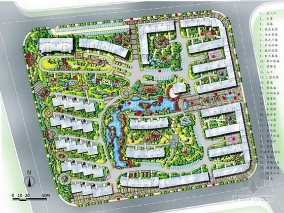 [福州]江南园林风格居住区景观规划设计方案