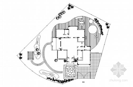 私家别墅庭院景观设计方案平面图